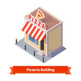 Pizza restaurant and shop building Stock Image