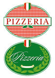 Pizza Restaurant Sign Stock Image
