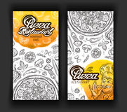 Pizza restaurant vector logo design template. eatery, diner or cuisine icons Stock Photo