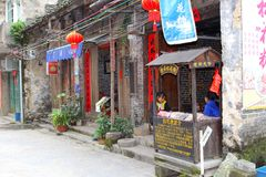 Italian pizza restaurant in Chinese style, Guilin, China Stock Photos