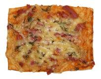 Pizza rettangolare Fotografia Stock