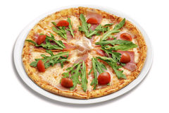 Pizza with rocket Stock Photo