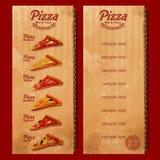 Pizza rocznika lista Ilustracja Wektor