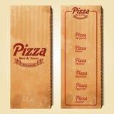 Pizza rocznika pudełko Ilustracji