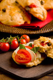 Pizza rolls stuffed with tomato and mozzarella Royalty Free Stock Image