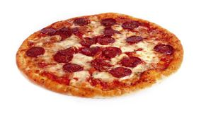 Pizza Rotating On White Background stock footage