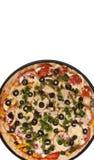 Pizza rotonda Immagini Stock Libere da Diritti