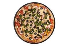 Pizza rotonda Fotografia Stock Libera da Diritti