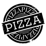 Pizza rubber stamp Royalty Free Stock Image