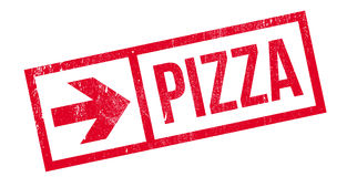 Pizza rubber stamp Stock Photo