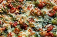 Pizza rucoli stockbilder