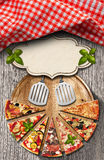Pizza - Rustic Menu Design Royalty Free Stock Photography