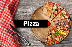 Pizza - Rustic Menu Design Royalty Free Stock Images
