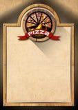 Pizza - Rustic Menu Design vector illustration