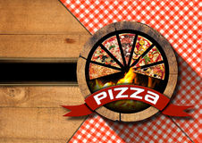 Pizza - Rustic Menu Design Royalty Free Stock Photo