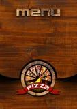 Pizza - Rustic Menu Design Royalty Free Stock Photo