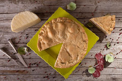 Pizza Rustica Neapolitan Traditional Food Stock Images