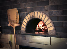 Pizza's oven Stock Images