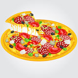Pizza saboroso Fotos de Stock Royalty Free