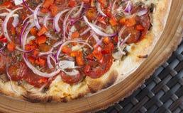 Pizza sabrosa Fotografía de archivo