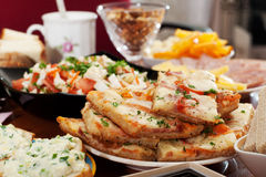 Pizza, salad Stock Photography