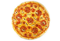 Pizza salami Zdjęcia Royalty Free