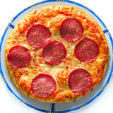 Pizza salami Royalty Free Stock Photography