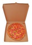 Pizza salami stock photos