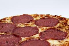Pizza Salami. Close up of a pizza salami Stock Images