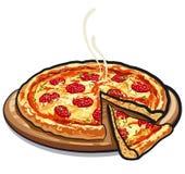 Pizza salami Royalty Free Stock Photography