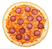 Pizza salami isolated Royalty Free Stock Photos