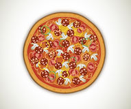 Pizza with salami Royalty Free Stock Photos
