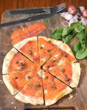 Pizza Salmon Royalty Free Stock Photo