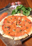 Pizza salmon Stock Photography