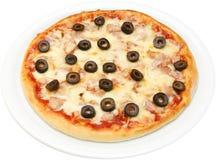 Pizza Salsiche fotografia royalty free