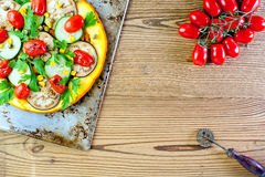 Pizza sana di verdure Immagine Stock Libera da Diritti
