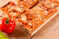 Pizza sandwiches Stock Photos