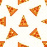 Pizza sans couture illustration de vecteur
