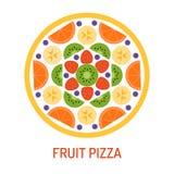 Pizza saporita della frutta Immagine Stock Libera da Diritti