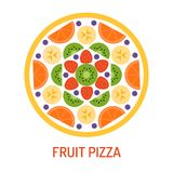 Pizza saporita della frutta Immagini Stock Libere da Diritti