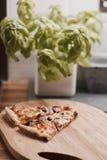 Pizza saporita nella cucina Fotografie Stock Libere da Diritti