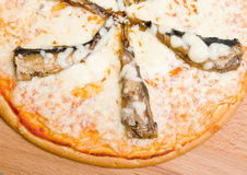 Pizza with sardine Stock Images