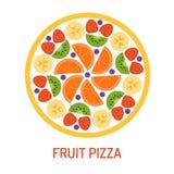 Pizza savoureuse de fruit Image libre de droits