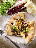 Pizza with scamorza Royalty Free Stock Photos