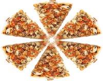 Pizza-Scheiben Lizenzfreie Stockbilder