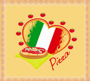 Pizza-Schmutzplakat Lizenzfreies Stockbild