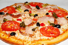 Pizza, Schnellimbiß Stockfoto