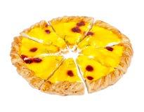 Pizza schnitt in gleiche Stücke Stockbilder