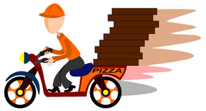 Pizza scooter delivery Stock Photo