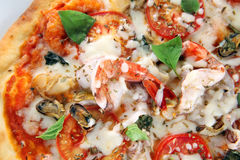 Pizza seafood Royalty Free Stock Photo